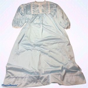 Vanity Fair Vintage Maxi Gown Nightie Pale Blue